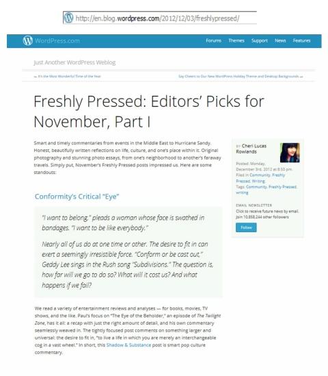 FP November Editor's Pick