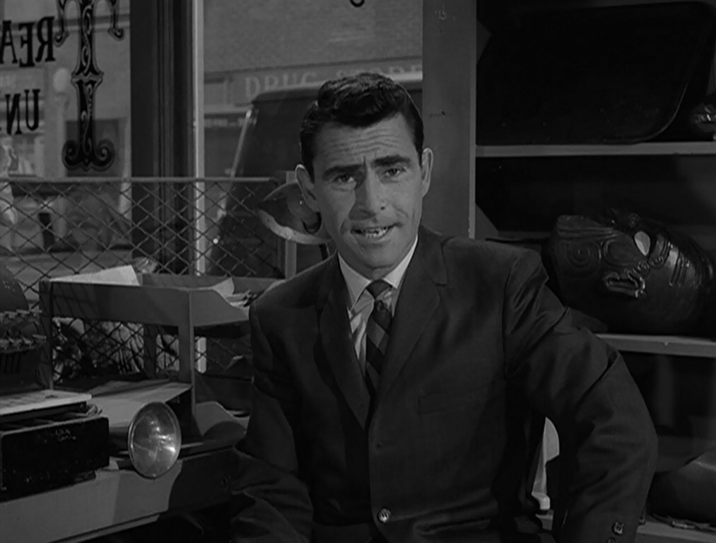 the images of evil in the twilight zone by rod serling The photos of rod serling on this and other pages of this web site are property of cbs-tv  rod serling: three serling plays staged: film festival buttons : film fest #1 film fest #2.