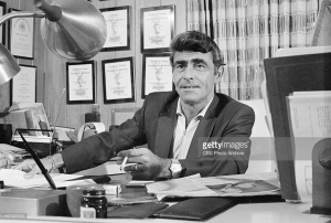 LOS ANGELES - DECEMBER 23: Rod Serling at his home in Los Angeles, California. Image dated December 23, 1964. (Photo by CBS via Getty Images) *** Local Caption *** Rod Serling